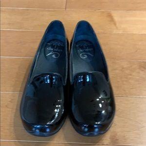 Dansko Black Patent Leather loafers